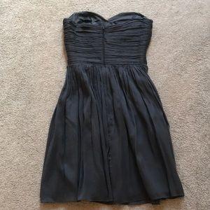 J crew bridesmaid grey sleeveless dress